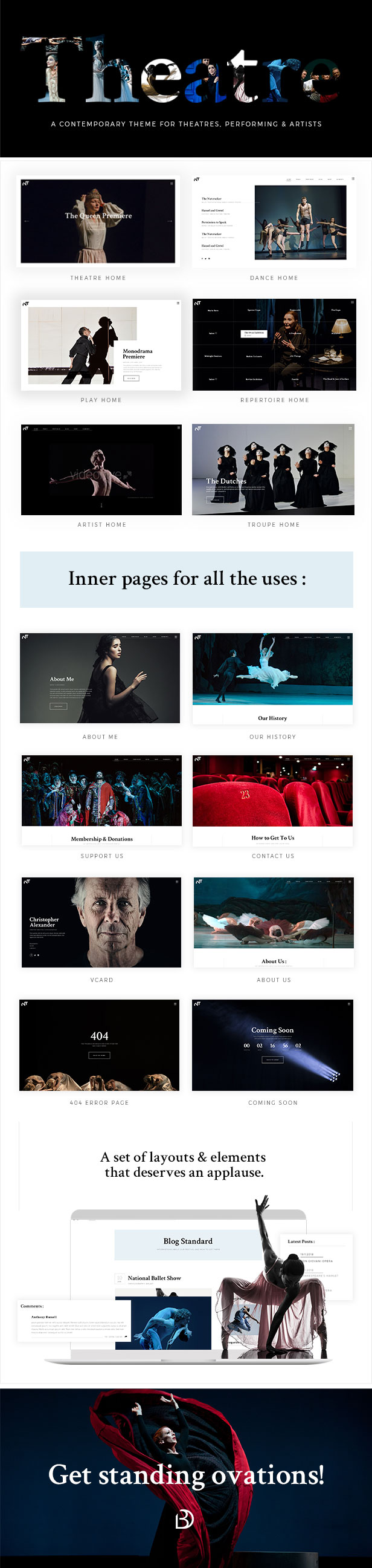 Bard – A Theatre and Performing Arts Theme (Entertainment)